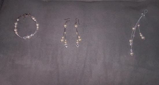 Accessoires mariage Boucles d'oreilles, bracelet, bijou de dos