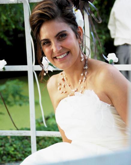 Collier mariage pas cher, collier perles nacrées ivoire