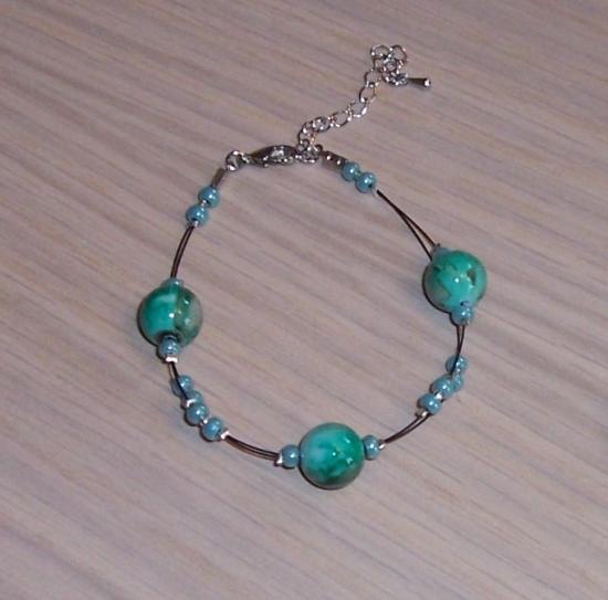 Bracelet mariage couleur verte