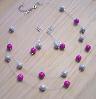 Collier mariage perles magiques