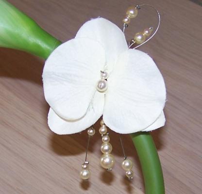 Bijou cheveux mariage orchidée