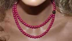 Collier fantaisie fuchsia