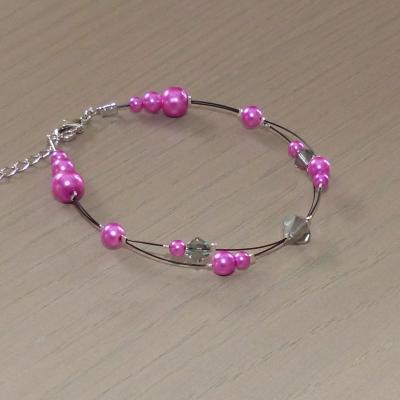 Bracelet rose fuchsia