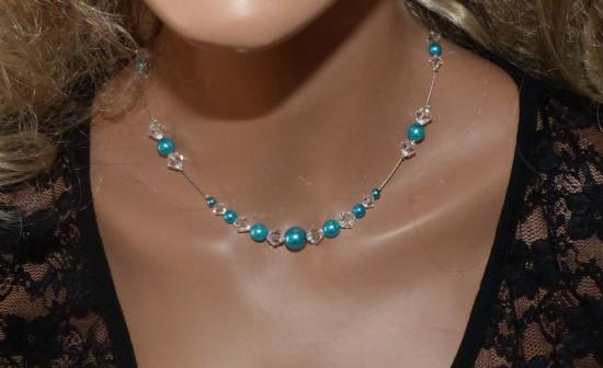 Collier turquoise cristal