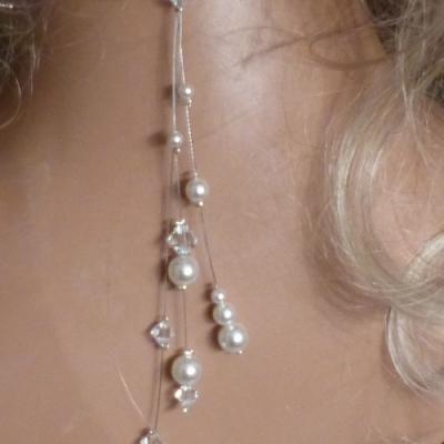 bijou de dos 3 fils blanc