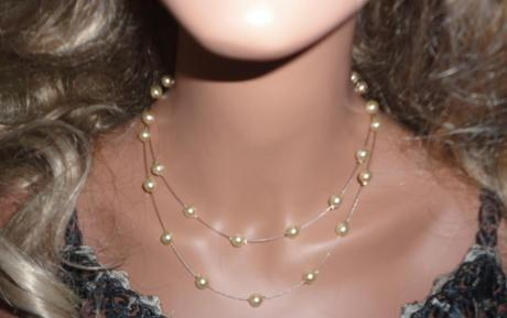 Collier mariage 2 rangs perles nacrées ivoire