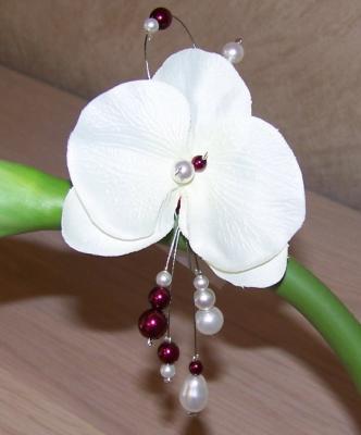 Bijou cheveux orchidée