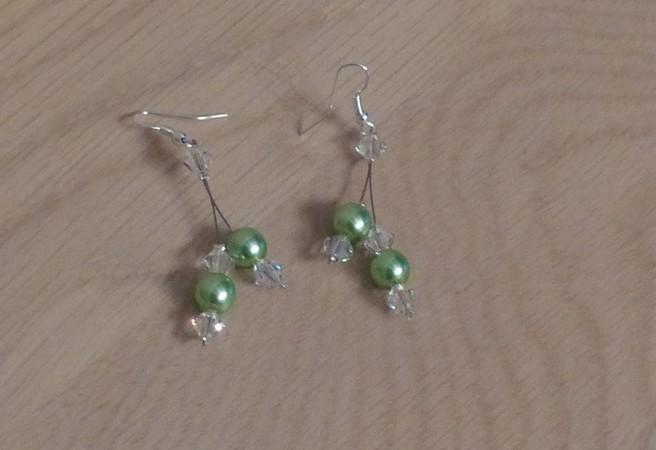 Boucles d'oreilles vert cristal
