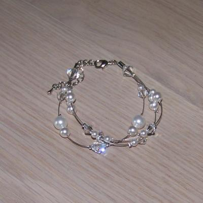 bracelet mariage blanc