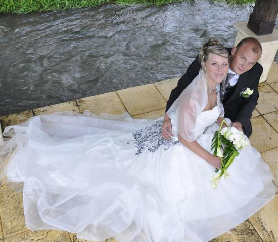 Collier mariage noir et ivoire