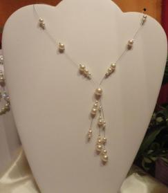 Collier mariage perles nacrées