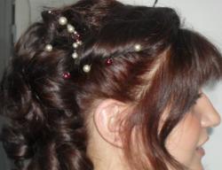 Bijou de cheveux perles nacrées
