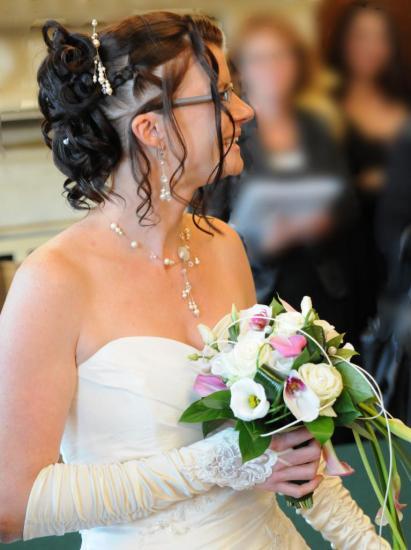 collier mariage parure ivoire
