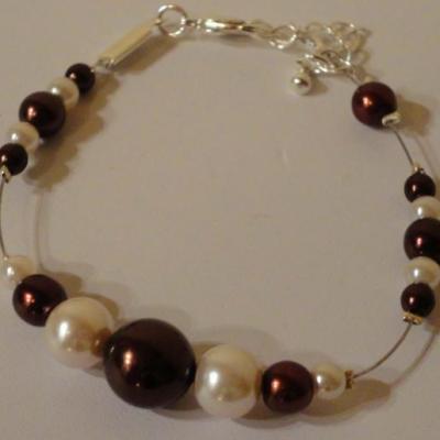Bracelet mariage chocolat / marron