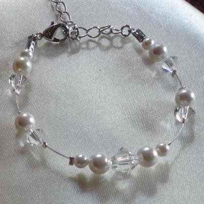 Bracelet mariage blanc cristal