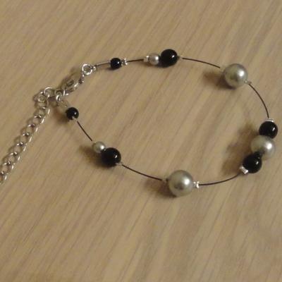 Bracelet mariage ivoire noir