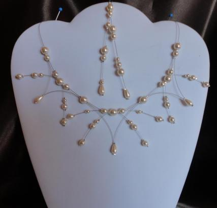 Collier mariage perles nacrées ivoire