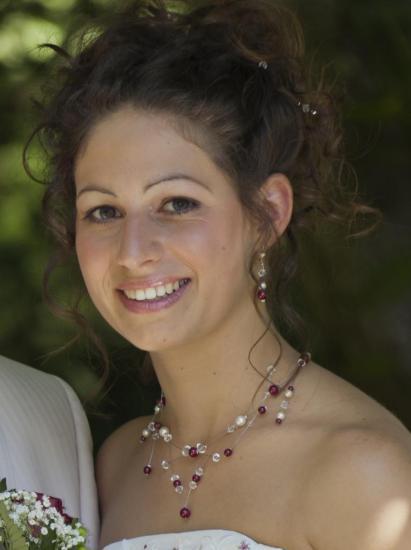 collier mariage ivoire bordeaux