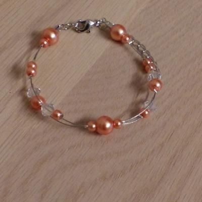 Bracelet mariage corail