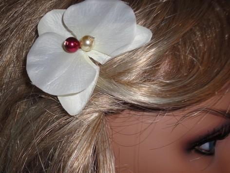 Pic cheveux orchidée