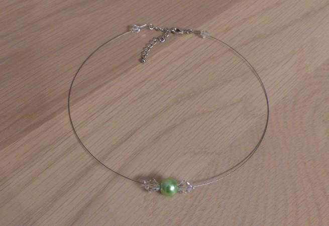 Collier vert cristal