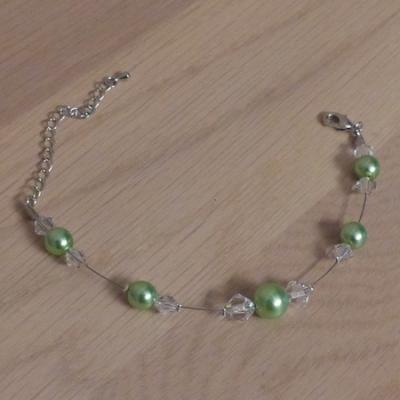 Bracelet vert cristal